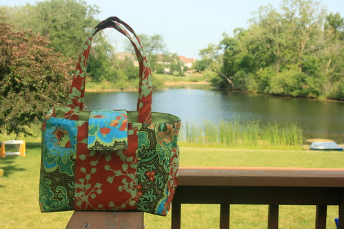 Craft Apple Diaper Bag Pattern - Amy Butler Fabric