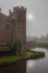 Herstmonceux Castle Mist (Julian Barker) Tags: herstmonceux castle east sussex england uk mist fog sun moat historical building folly julian barker canon dslr 600