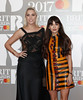 Amber Le Bon and Zara Martin attend The BRIT Awards 2017 at The O2 Arena on February 22, 2017 in London, England. (Photo by John Phillips/Getty Images)
