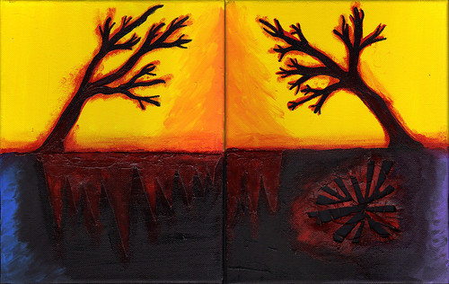 Bending Trees (diptych)