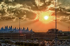 Denver International Airport Sunset Glow