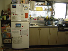 Fridge and sink in my Japanese kitchen (Shanti, shanti) Tags: kitchen japan