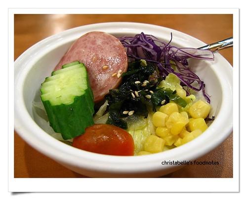 卡滋豬排套餐沙拉