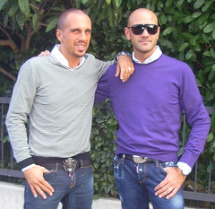 people italy men green boys sunglasses fashion portraits belt cool twins europe afternoon purple males gemini brands
