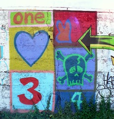 one heart 3 heart arrow skull 4