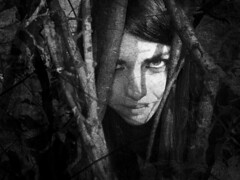 Hidden (Simone Lelli) Tags: old light shadow wild portrait woman white black tree texture girl alberi forest donna grow deep natura hidden ambient albero bianco ritratto nero radici rami ragazza foresta nascosto