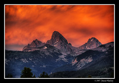 An Omen for a Great Day! (James Neeley) Tags: sunset orange mountains halloween nature landscape bravo grandtetons tetons hdr 5xp mywinners superaplus aplusphoto jamesneeley