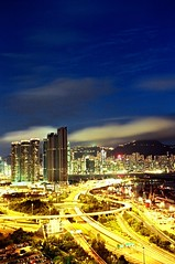 Hong Kong (calvin89) Tags: city blue night hongkong   victoriaharbor