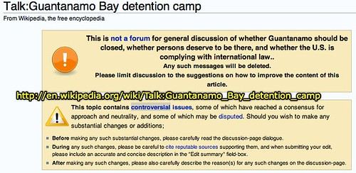 Talk Page Guantanamo Bay detention camp