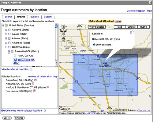 New Google AdWords Geo Targeting Interface
