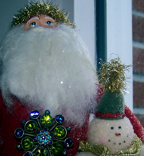 Vintage Santa & Friend
