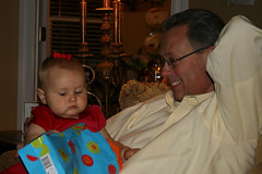 Haley's First Christmas - Sitting on Grandpa Bill's Lap