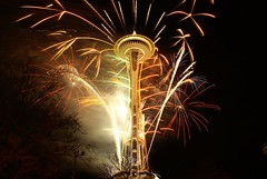Happy New Year. (tollen) Tags: seattle friends love washington bravo fireworks newyear celebrations passion spaceneedle viewlarge 2008 flickrfriends catchingup resolutions fyrverkeri magicdonkey godtnyttÅr platinumphoto diamondclassphotographer newyear2008 equipmentfailure notrehired
