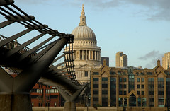 St Pauls and The Bridge (WillyG) Tags: bridge st thames cathedral pauls millennium