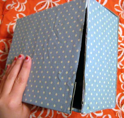 Fabric Covered Cigar Box