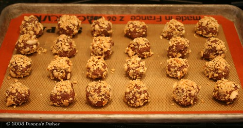 Milk Chocolate Peanut Butter Truffles: With Chopped Peanuts