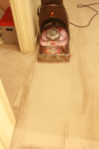 my bissell carpet cleaner - i love this thing