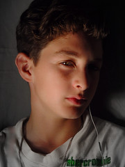 The New Face of Abercrombie (shutterdepth) Tags: lighting boy portrait face youth studio kid ipod style teenager abercrombie teenage earbud