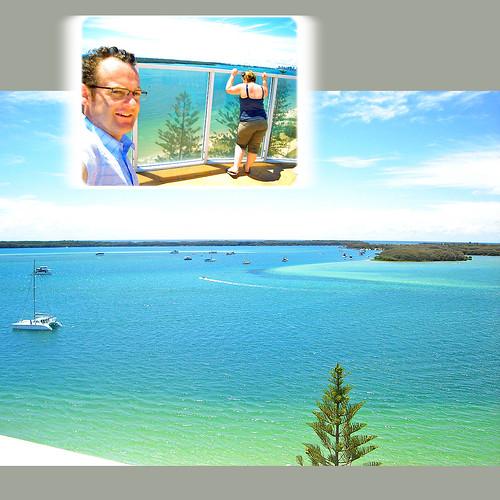 Looking over the Lagoon - Biggera Waters, Gold Coast, Australia.