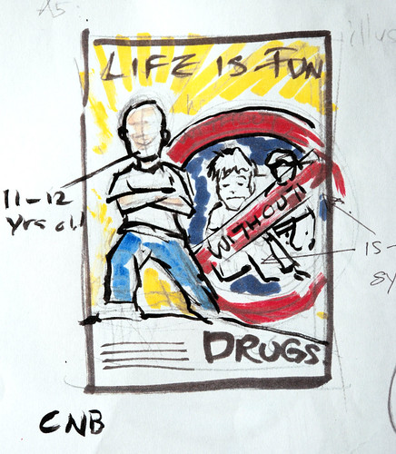Life is fun, say no to drug sketch