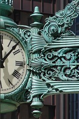 The Great Clock (StGrundy) Tags: urban usa chicago detail green clock architecture illinois downtown time decorative sony famous landmark architectural departmentstore macys theloop deco iconic marshallfields normanrockwell 1208 elaborate saturdayeveningpost schmap dsch2 sperhearts platinumheartaward superperfectphotographer theg