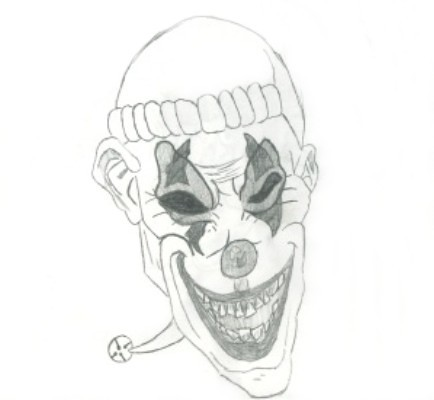 How To Draw A Gangster Clown further Toy Musketeer Sword in addition Cat O Nine Tails Flogger in addition drawingfactory   evilclowndrawingsb in addition Circus Clowns Drawings. on scary gangster costumes