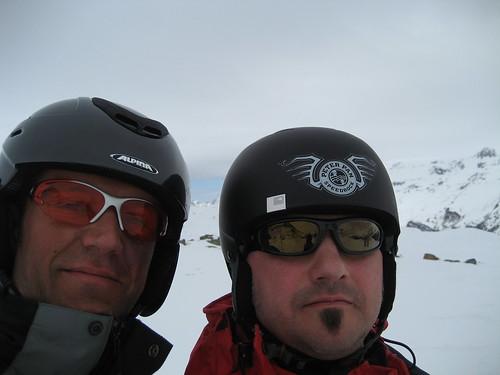 Ski heil auf dem Corvatsch