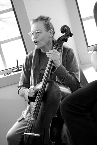 Pinky Bass Playing Cello
