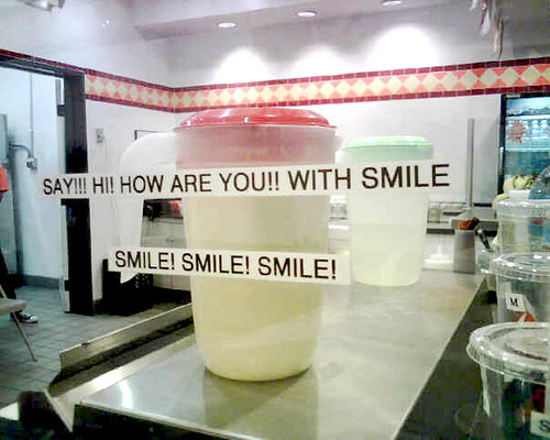 SAY!!! HI! HOW ARE YOU!! WITH SMILE SMILE! SMILE! SMILE!