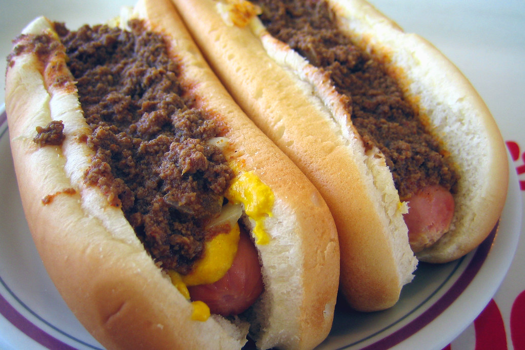 Hot dogs with everything
