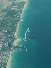 Dubai from the air (rosbiffer) Tags: tower dubai gulf uae middleeast burjalarab airborne palmisland jumeirah burj theworld burjdubai