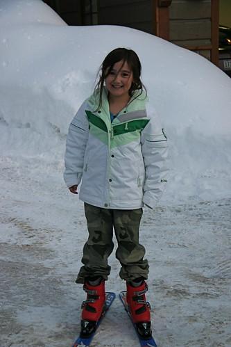 Cody on skis