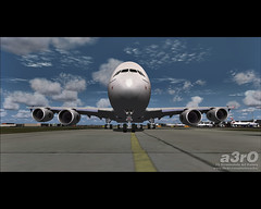 The big Mama in LHR (a3rO) Tags: airbus a380 lhr overland singaporeairlines fs2004 fs9 egll heathrow2008 aerosoft simmerssky