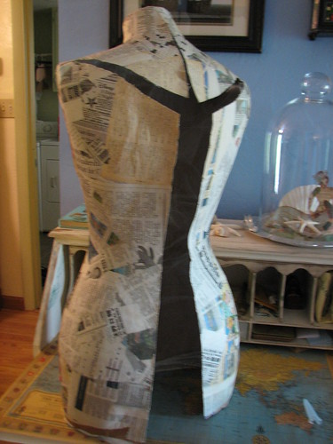 cut carefully along back to remove from dress form
