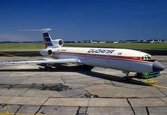 CU-T1265  Tupolev TU-154M  Cubana (n707pm) Tags: cut1265 tu154 tupolev tu154m airport airline aircraft airplane cubana einn coclare ireland snn 061988 cn87a751 scanfromaslide shannonairport rineanna
