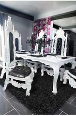 "4022 GLOSS WHITE ROYAL DINING TABLE + 4004 WHITE BAROQUE THRONE CHAIR WITH LION LEGS • <a style=""font-size:0.8em;"" href=""http://www.flickr.com/photos/43749930@N04/5743706129/"" target=""_blank"">View on Flickr</a>"
