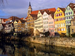 Tbingen, Neckarfront, Stiftskirche (www.klaus-dolle-photographie.com) Tags: tbingen stiftskirche neckarfront klausdolle travelerphotos goldenphotographer diamondclassphotographer flickrdiamond excellentphotographerawards