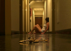 too many keys for a single room (virginiaz) Tags: portrait woman keys buenosaires dof hallway concept poetics virginiaz mywinners superbmasterpiece diamondclassphotographer flickrdiamond fiveflickrfavs