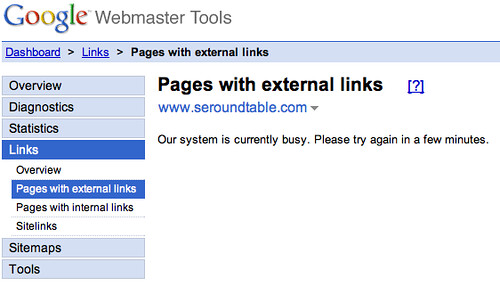 Google Link Troubles