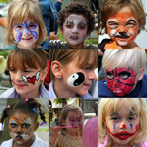 Face Painting Ideas for Fall http://sharonctdailyphoto.blogspot.com/2007_10_01_archive.html