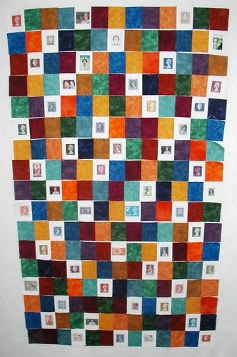 queen stamp quilt rows