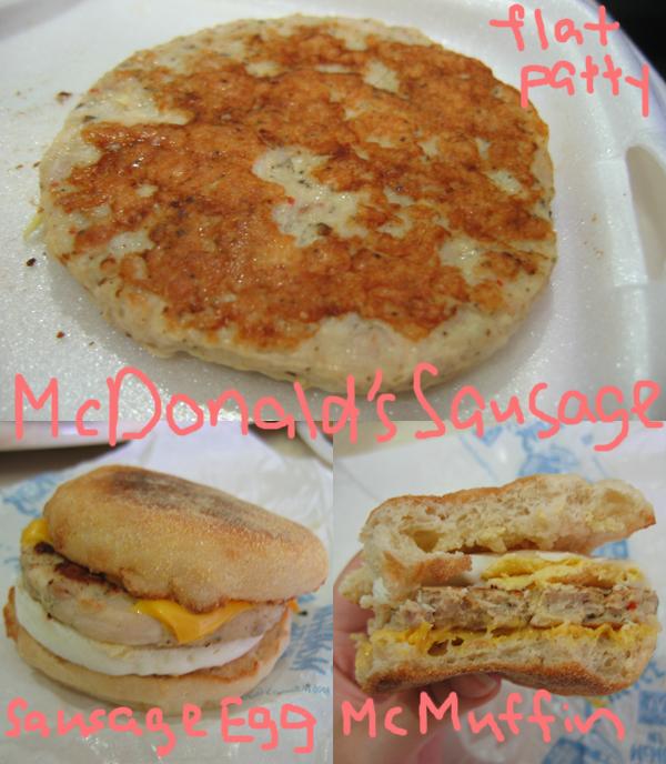 mcdonald's sausage