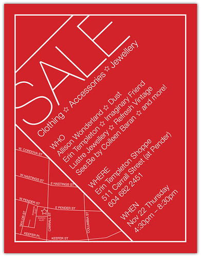 Sale/market/etc Flyer for Nov 22nd