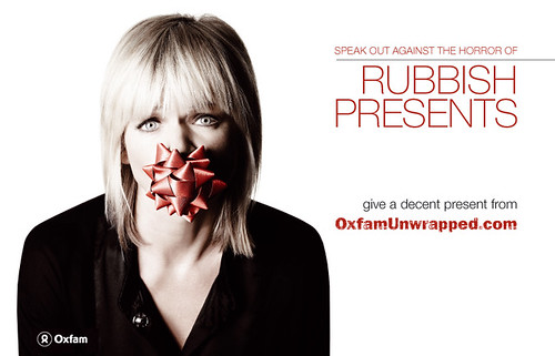 Zoe Ball in an OxfamUnwrapped video