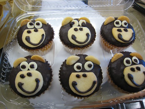 Happy Monkey Cupcakes.