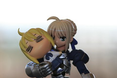 She won....herself? (katsuboy) Tags: anime japan toys dante transformers saber gashapon megatron bandai optimusprime devilmaycry fatestaynight revoltech bfigure jfigure gashaponmachine