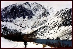 Convict Lake Winter, Sierra Nevada Mountains, California (moonjazz) Tags: california winter wild snow ski mountains cold beauty fun alone best zen recreation wilderness mammothlakes awe convictlake
