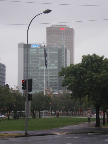 Two of the big Aussie banks in Adelaide by Dodge 76