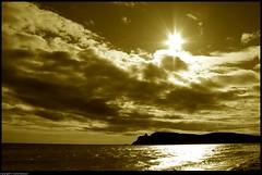 Cagliari (CarloAlessioCozzolino) Tags: sardegna sea sky sun beach clouds nuvole mare sardinia cielo sole spiaggia cagliari poetto selladeldiavolo photosexplore