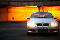 Drive me! (h.andras_xms) Tags: light car night canon silver dof 85mm bmw 1ds bimmer markiii 335i handras wwwxmshu httpxmshu